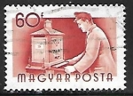 Stamps : Europe : Hungary :  Profesiones - cartero