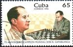 Sellos del Mundo : America : Cuba : 75th  ANIVERSARIO  CAMPEÓN  MUNDIAL.  JOSÉ  R.  CAPABLANCA.