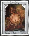 Sellos del Mundo : America : Cuba : MUSEO  DE  ARTE  DECORATIVO.  ALEGORÍA  A  LA  MÚSICA,   FRANCOIS  BOUCHER.