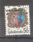 Sellos de Europa - Checoslovaquia -  escudo RESERVADO