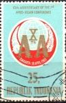 Stamps : Asia : Indonesia :  10th  ANIVERSARIO  DE  LA  PRIMERA  CONFERENCIA  AFRO-ASIÁTICA