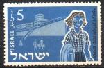 Stamps : Asia : Israel :  20th  ANIVERSARIO  DE  LA  JUVENTUD  IMMIGRANTE.  JÓVEN  Y  BARCO.
