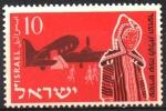 Stamps : Asia : Israel :  20th  ANIVERSARIO  DE  LA  JUVENTUD  IMMIGRANTE.  IMMIGRANTES  Y  DOUGLAS  DC-3.