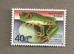 Stamps America - Netherlands Antilles -  Sapo de ojos rojos