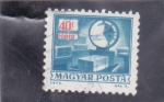 Stamps Hungary -   Franqueo debido - Escalas en P.O de autoservicio.