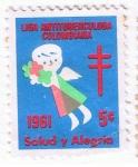Sellos del Mundo : America : Colombia : Liga Antituberculosa Colombiana 1961
