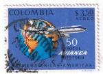 Sellos del Mundo : America : Colombia :  50 Años de AVIANCA 1919 - 1969