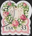 Stamps United States -  Ramo de rosas