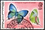 Stamps : America : Belize :  MARIPOSA  PEINADO  REAL