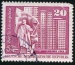 Stamps : Europe : Germany :  Leninplazt - Berlin