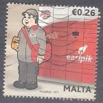 Sellos del Mundo : Europa : Malta : cartero RESERVADO