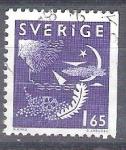 Sellos del Mundo : Europa : Suecia : simbolos RESERVADO