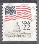 Sellos del Mundo : America : Estados_Unidos : bandera y capitolio