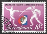 sello : Europa : Luxemburgo : esgrima