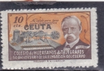 Stamps Spain -  COLEGIO DE HUERFANOS DE TELÉGRAFOS-CEUTA-(43)