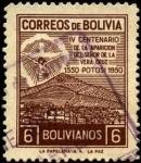 Stamps Bolivia -  4to. centenario de la aparición del Señor de la Vera Cruz.