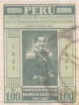 Stamps : America : Peru :  MARISCAL FRAMÓN CASTILLA