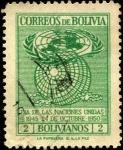 Stamps Bolivia -  24 octubre 1950. Día de las Naciones Unidas.