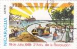 Stamps Nicaragua -  2º ANIVERSARIO DE LA REVOLUCIÓN