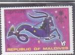 Stamps : Asia : Maldives :  CAPRICORNIO