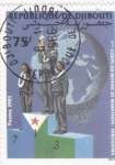 sello : Africa : Djibouti : COPA DEL MUNDO MARATHON -HIROSHIMA