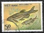 de Asia - Vietnam -  Peces - Brachydanio rerio