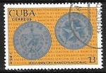 de America - Cuba -  Moneda de 1 peso plateada