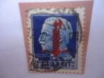 Sellos de Europa - Italia -  Efingie de Victtorio Emmanuel III - Mirando a la Izquierda. Serie:Republica Social Ttaliana(Italian