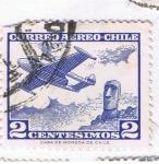Sellos del Mundo : America : Chile :  Correo Aereo 3