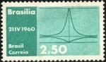 Sellos de America - Brasil -  Inauguración Brasilia. Palacio del Planalto.
