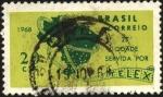 Stamps Brazil -  Mapa de las 25 ciudades usuarias de telex.