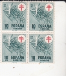 Stamps Spain -  PRO TUBERCULOSOS(43)