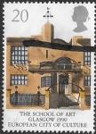 Sellos de Europa - Reino Unido -  arquitectura