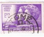 Sellos de America - Chile -  Sesquicentenario de la Batalla de Chacabuco y  maipu