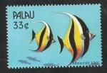 Sellos del Mundo : Oceania : Palau :  1486 - Fauna marina del Pacifico Sur, Pez Moorish Idol