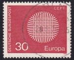 Sellos de Europa - Alemania -  Europa 1970
