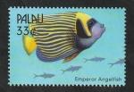 sello : Oceania : Palau : 1487 - Fauna marina del Pacifico Sur, Pez Ángel Emperador
