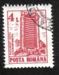 Stamps Romania -  Hoteles, Hotel Intercontinental, Bucharest