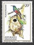 Sellos del Mundo : Africa : Rwanda : 1130 - Pájaro Sol de Doble Cuello