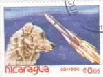 Stamps Nicaragua -  Laika