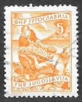 Sellos del Mundo : Europa : Yugoslavia : 345 - Pescador