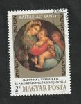 de Europa - Hungría -  2856 - 500 Anivº del nacimiento de Raphael