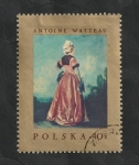 Sellos de Europa - Polonia -  1661 - Pintura de Antoine Watteau