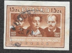 Sellos del Mundo : Europa : Polonia : 411 - Stanislaw Wyspianski, Juliusz Slowacki y Jan Kasprowicz