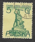 Sellos del Mundo : Europa : Polonia : 668 - Monumento de la Sirena