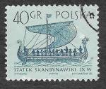 Sellos del Mundo : Europa : Polonia : 1128 - Barcos Antiguos