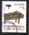 Sellos del Mundo : Europa : Polonia : Instrumentos musicales, Sonajero de madera