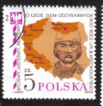 Stamps : Europe : Poland :  Mapas de Polonia, príncipe Boleslaw Krzywousty (1085-1138)