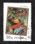Sellos del Mundo : Europa : Polonia : Pinturas de S. I. Witkiewicz, Marysia y Burek en Ceilán, de S. I. Witkiewicz