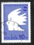 Sellos del Mundo : Europa : Polonia : Perfil, emblema de la columna de Segismundo III, torre del castillo real